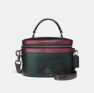 Coach Colorblock Metallic Trail Crossbody Bag